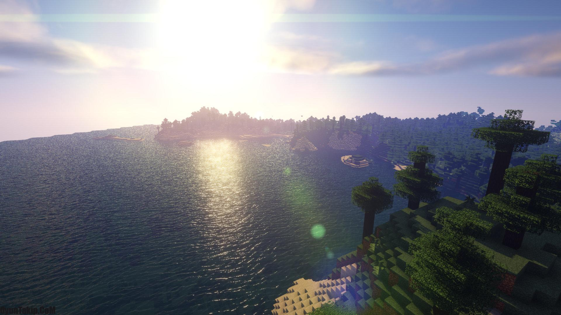 Minecraft Default Panorama with Shaders – background with shaders